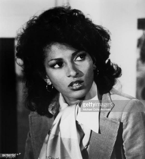 "Actress Pam Grier poses for a publicity photo for her movie ""Friday Foster"" circa 1975 in Los Angeles, California."
