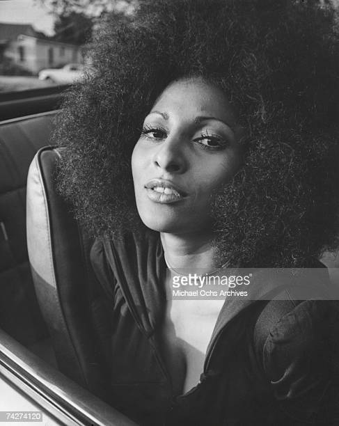 Actress Pam Grier poses for a publicity photo for her movie 'Hit Man' circa 1972 in Los Angeles, California.