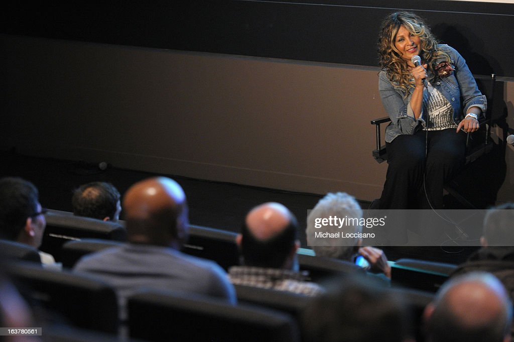 Actress Pam Grier speaks onstage at the 'Foxy, The Complete Pam Grier' Film Series at Walter Reade Theater on March 15, 2013 in New York City.