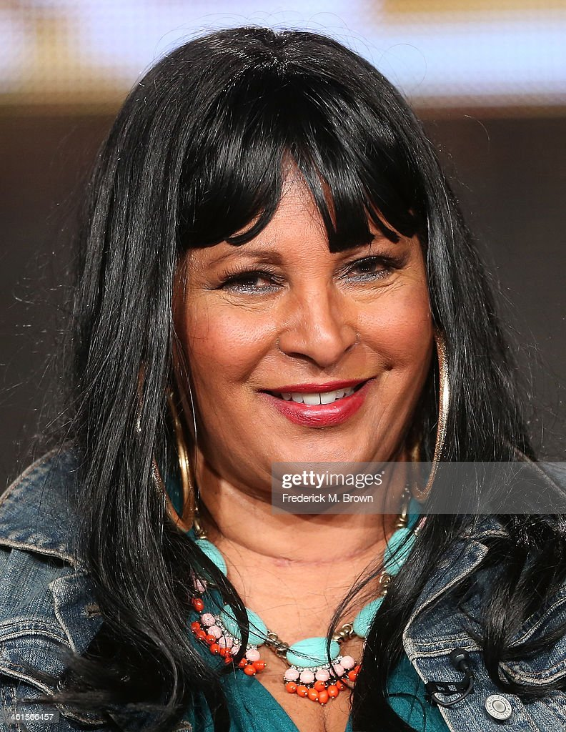 Actress Pam Grier speaks onstage during the 'Unsung Hollywood' panel discussion of the TV One portion of the 2014 Winter Television Critics Association tour at the Langham Hotel on January 9, 2014 in Pasadena, California.