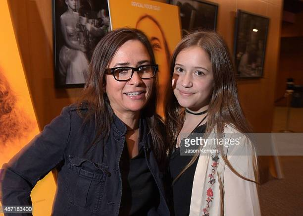 Actress Pamela Adlon and daughter Gideon Adlon attend the premiere of Awake at Directors Guild Of America on October 13 2014 in Los Angeles California
