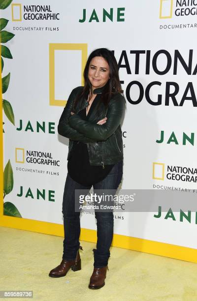 Actress Pamela Adlon arrives at the premiere of National Geographic Documentary Films' Jane at the Hollywood Bowl on October 9 2017 in Hollywood...