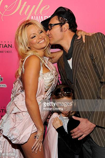 Actress Pamela Anderson, Adelaide Gault and photographer David LaChapelle arrive for the 6th Annual Hollywood Style Awards at Armand Hammer Museum on...