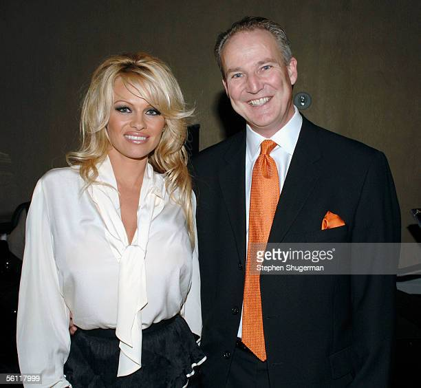 Actress Pamela Anderson and Cadillac's Jim Taylor attend The Museum of Television Radio Annual Los Angeles Gala at the Beverly Hilton Hotel on...