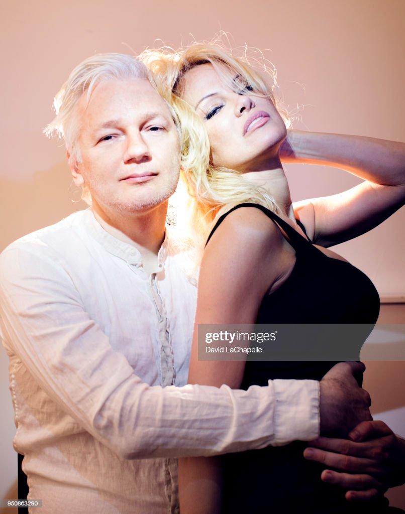 Pamela Anderson and Julian Assange, March 12, 2017