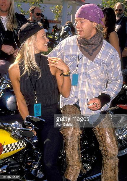 Actress Pamela Anderson and Musician Brett Michaels attend the Love Ride 11 11th Annual Motocycle Rider's Fundraiser for the Muscular Dystrophy...