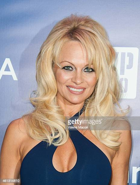 Actress Pamela Anderson arrives at the 4th Annual Sean Penn Friends HELP HAITI HOME Gala Benefiting J/P Haitian Relief Organization at Montage Hotel...