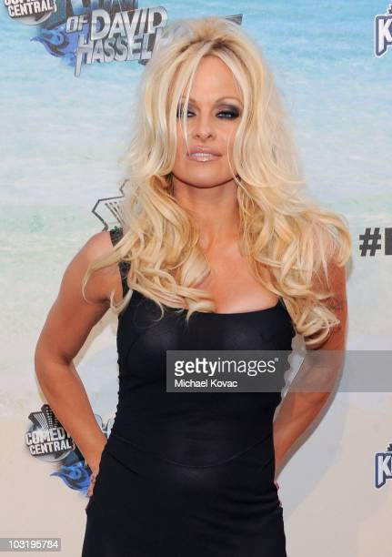 Actress Pamela Anderson arrives at the Comedy Central Roast Of David Hasselhoff held at Sony Pictures Studios on August 1 2010 in Culver City...
