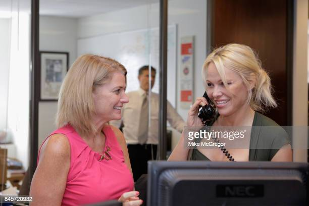 Actress Pamela Anderson attends Annual Charity Day hosted by Cantor Fitzgerald BGC and GFI at BGC Partners INC on September 11 2017 in New York City