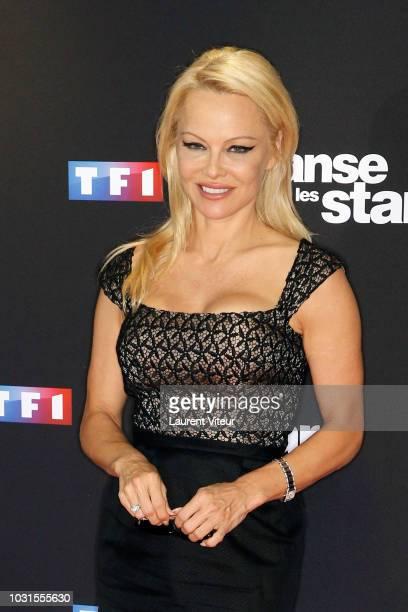 Actress Pamela Anderson attends Danse avec les Stars 2018 Photocall at TF1 on September 11 2018 in Paris France