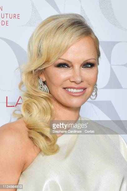 Actress Pamela Anderson attends the 17th Diner De La Mode as part of Paris Fashion Week on January 24 2019 in Paris France