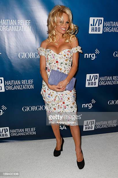 Actress Pamela Anderson attends the 2nd Annual Sean Penn and Friends Help Haiti Home Gala benefiting J/P HRO presented by Giorgio Armani at Montage...