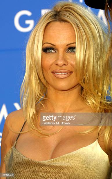Actress Pamela Anderson attends the 44th Annual Grammy Awards at Staples Center February 27 2002 in Los Angeles CA