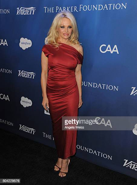 Actress Pamela Anderson attends the 5th Annual Sean Penn Friends HELP HAITI HOME Gala benefiting J/P Haitian Relief Organization at Montage Hotel on...