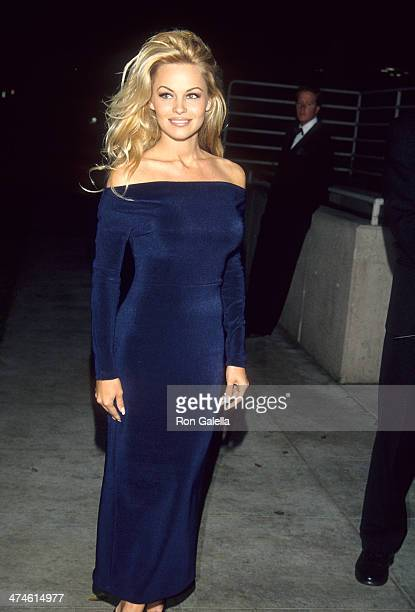 Actress Pamela Anderson attends the 65th Annual Academy Awards Viewing Party - First Annual Elton John AIDS Foundation Academy Awards Party on March...