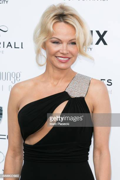 Actress Pamela Anderson attends the Amber Lounge Fashion Monaco 2017 at Le Meridien Beach Plaza Hotel on May 26 2017 in Monaco Monaco