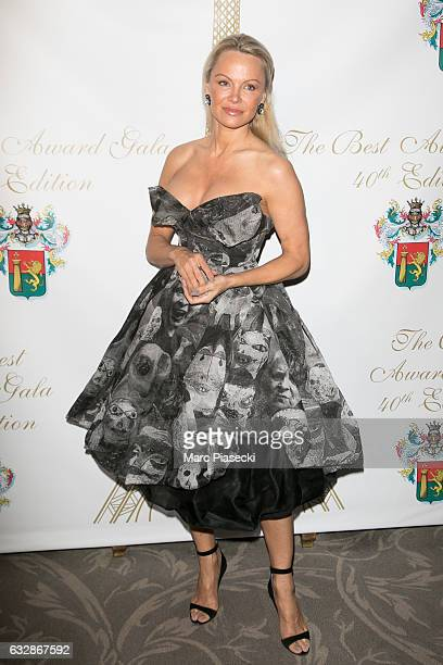 Actress Pamela Anderson attends 'The Best Award Gala 40th Edition' at Four Seasons George V hotel on January 27 2017 in Paris France