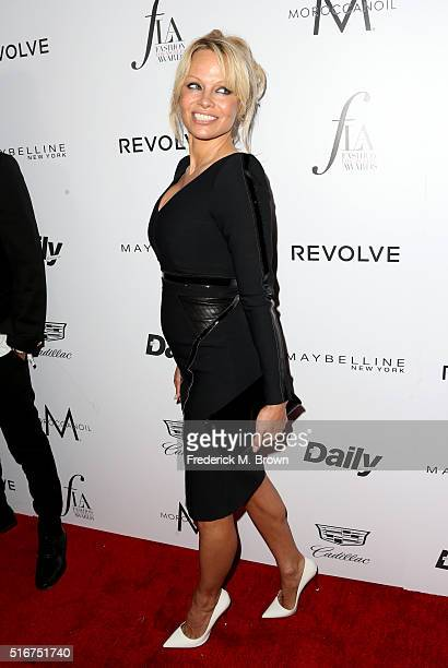 Actress Pamela Anderson attends the Daily Front Row Fashion Los Angeles Awards at Sunset Tower Hotel on March 20 2016 in West Hollywood California