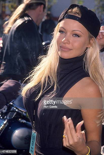 Actress Pamela Anderson attends the Love Ride 11 11th Annual Motocycle Rider's Fundraiser for the Muscular Dystrophy Association on November 13 1994...