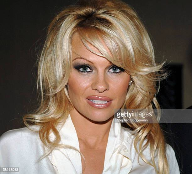Actress Pamela Anderson attends The Museum of Television Radio Annual Los Angeles Gala at the Beverly Hilton Hotel on November 7 2005 in Beverly...
