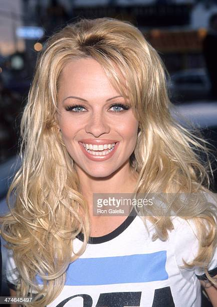 "Actress Pamela Anderson attends the Party for Ingrid Newkirk's New Book ""You Can Save the Animals"" on April 27, 1999 at O2 in West Hollywood,..."