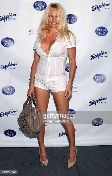 Actress Pamela Anderson attends the Sapphire Gentlemen's Club and Prime 333 grand opening on April 27 2009 in New York City