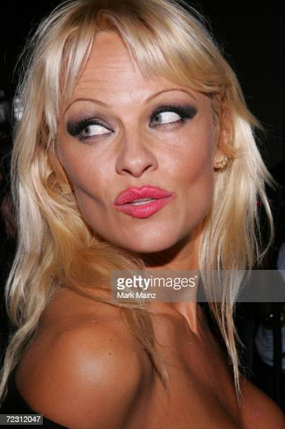 Actress Pamela Anderson attends the season one and season two DVD release party for 'Baywatch' at Casa Del Mar Hotel on October 30 2006 in Santa...