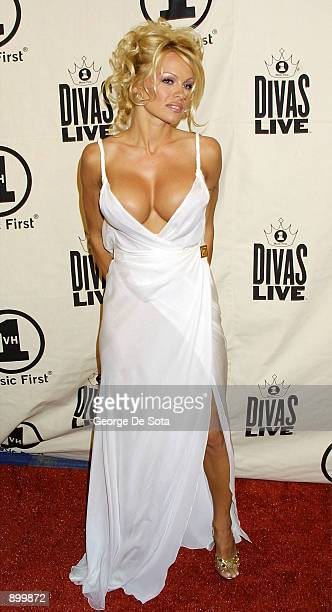 Actress Pamela Anderson attends the 'VH1 Divas Live' April 10 2001 at Radio City Music Hall in New York City