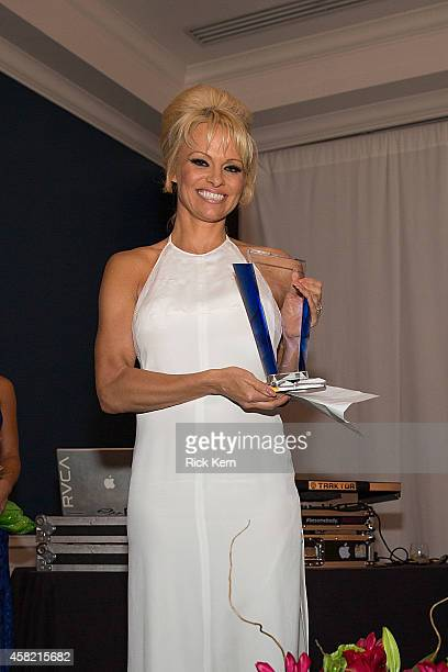 Actress Pamela Anderson is honored during the 5th Annual Better World Awards at Hotel Ella on October 31 2014 in Austin Texas