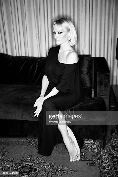 Actress Pamela Anderson is photographed for Self Assignment on March 2 2015 in West Hollywood California