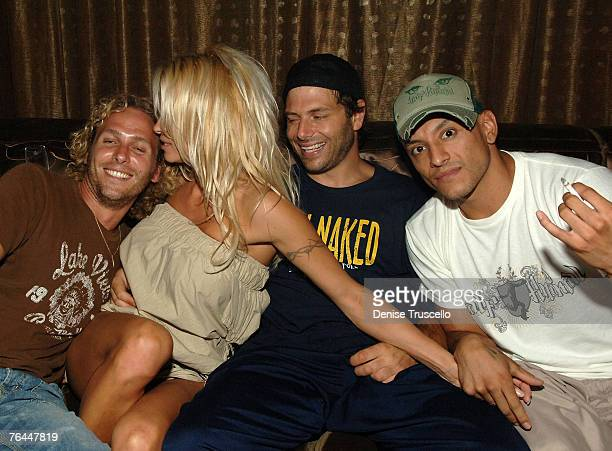 Actress Pamela Anderson Rick Salomon and guests attend Blush Boutique nightclub opening party at Wynn Hotel and Casino on August 31 2007 in Las Vegas...