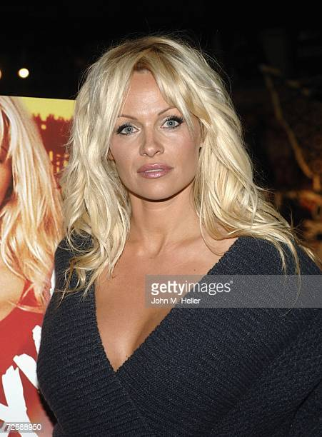 Actress Pamela Anderson signs copies of 'Baywatch' DVD Seasons 1 2 at the Virgin Mega Store at Hollywood Highland on November 16 2006 in Hollywood...