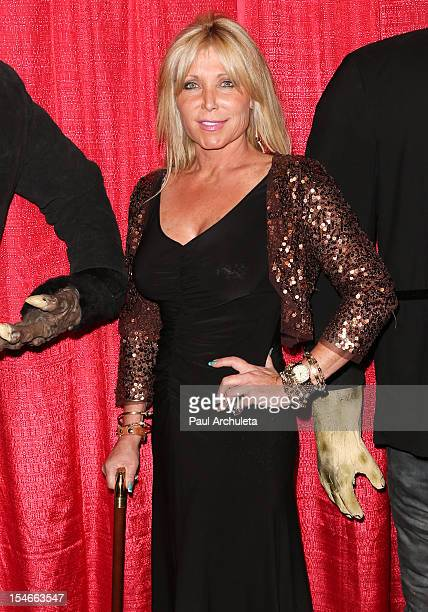 Actress Pamela Bach Hasselhoff attends the Blood Magazine launch party at Infusion Lounge on October 23, 2012 in Universal City, California.