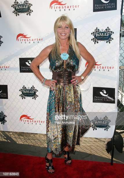 Actress Pamela Bach Hasselhoff attends the Power Players celebrity cruise benefitting 'Rally For Kids' Charity on July 29 2010 in Marina del Rey...