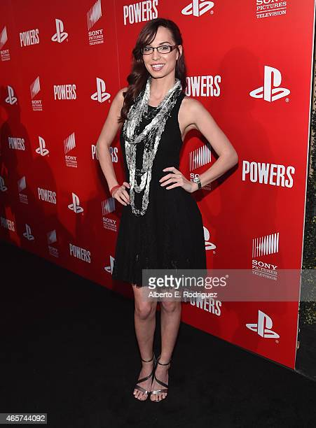 Actress Pamela Horton attends the series premiere of Sony Television's Powers at Sony Pictures Studios on March 9 2015 in Culver City California