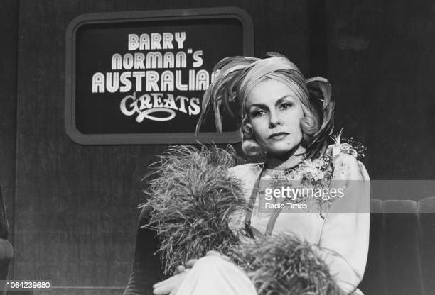 Actress Pamela Stephenson on the set of 'Barry Norman's Australian Greats' in a sketch from the television show 'Pamela Stephenson Show' November...