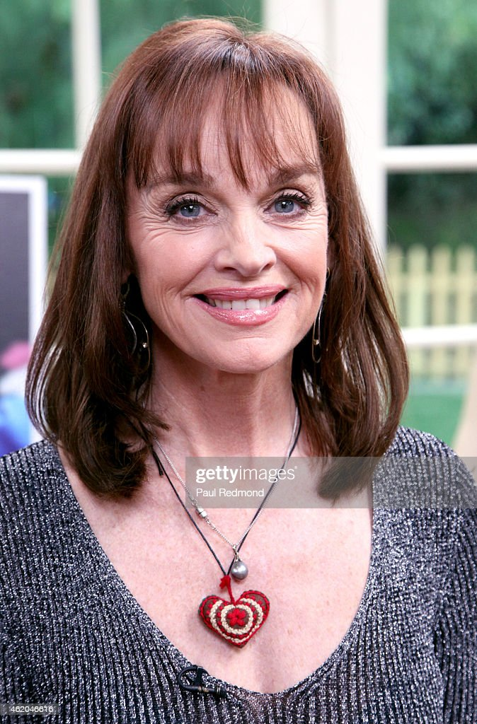 Actress Pamela Sue Martin photographed on the set of 'Dynasty' Reunion on 'Home & Family' at Universal Studios Backlot on January 23, 2015 in Universal City, California.