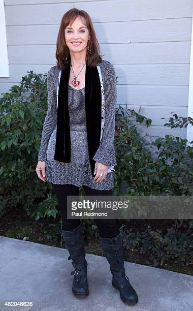 Actress Pamela Sue Martin photographed on the set of 'Dynasty' Reunion on 'Home Family' at Universal Studios Backlot on January 23 2015 in Universal...