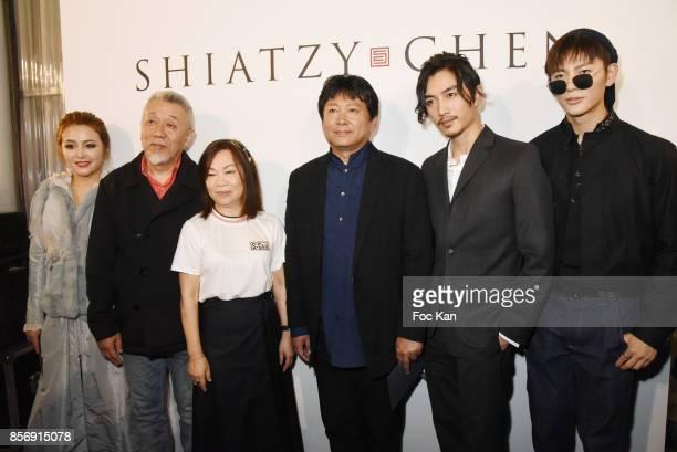 Actress Pang Yi Xi Zhao Lei designer Wang Chen TsaiHsia from Schiatzy Chen director Huo Jian Qi from movie Ru Ying Sui Xin actors Chen Xiao and Wang...