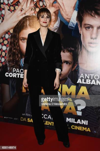 Actress Paola Cortellesi attends 'Mamma o Papa' premiere on February 13 2017 in Milan Italy