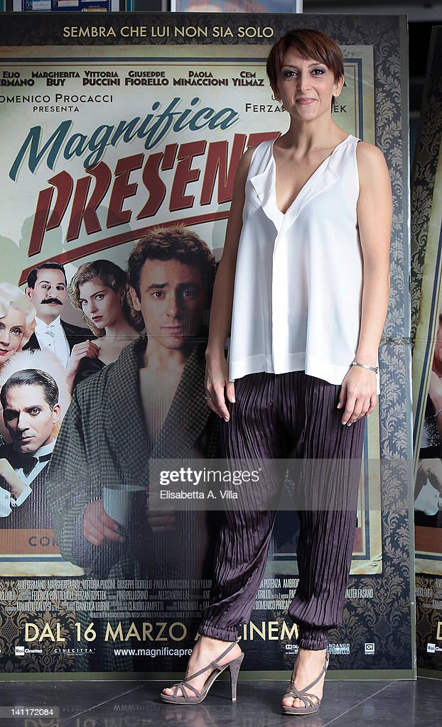 Actress Paola Minaccioni attends 'Magnifica Presenza' photocall at Adriano Cinema on March 12, 2012 in Rome, Italy.