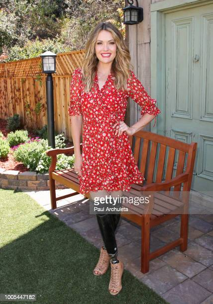 Actress / Paralympian Amy Purdy visits Hallmark's 'Home Family' celebrating 'Christmas In July' at Universal Studios Hollywood on July 25 2018 in...