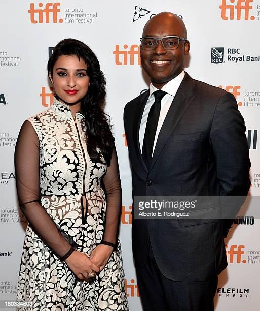 Actress Parineeti Chopra and TIFF CoDirector Cameron Bailey arrive at A Random Desi Romance Premiere during the 2013 Toronto International Film...