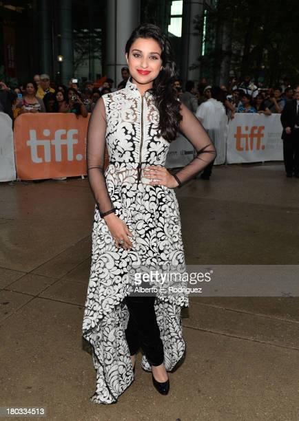 Actress Parineeti Chopra arrives at A Random Desi Romance Premiere during the 2013 Toronto International Film Festival at Roy Thomson Hall on...