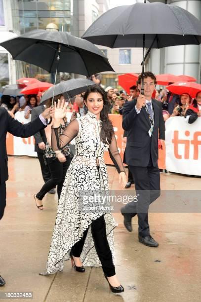 Actress Parineeti Chopra arrives at the A Random Desi Romance Premiere during the 2013 Toronto International Film Festival at Roy Thomson Hall on...