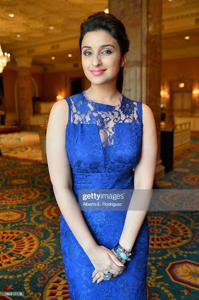 Actress Parineeti Chopra from the India's 'A Random Desi Romance' cast prepares for the 2013 Toronto International Film Festival Premiere at Fairmont Royal York on September 11, 2013 in Toronto, Canada.