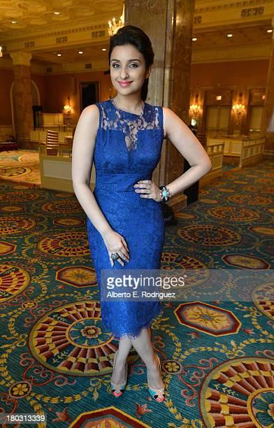 Actress Parineeti Chopra from the India's A Random Desi Romance cast prepares for the 2013 Toronto International Film Festival Premiere at Fairmont...