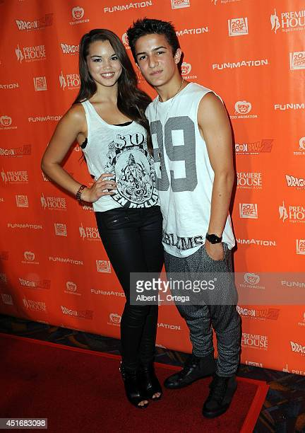 Actress Paris Berelc Aramis Knight arrives for the Premiere Of 'Dragon Ball Z Battle Of Gods' held at Regal Cinemas LA Live on July 3 2014 in Los...