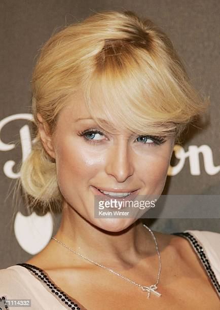 Actress Paris Hilton arrives at the International Launch of Dom Perignon Rose Vintage 1996 Champagne by Karl Lagerfeld on June 2 2006 in Beverly...