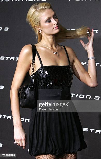 Actress Paris Hilton arrives at the Launch Party For Sony Computer Entertainment America Playstation 3 held on November 82006 in Beverly Hills...